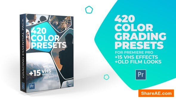 Videohive 420 Cinematic Color Presets, 15 VHS Video Effects, Old Film Looks - Premiere Pro