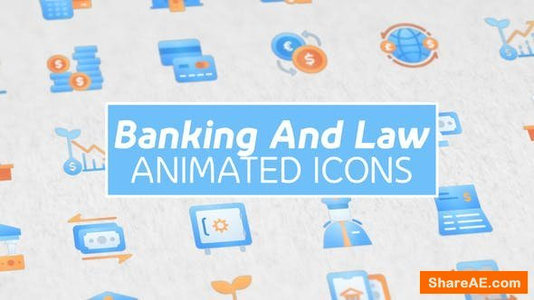 Videohive Banking and Law Modern Animated Icons