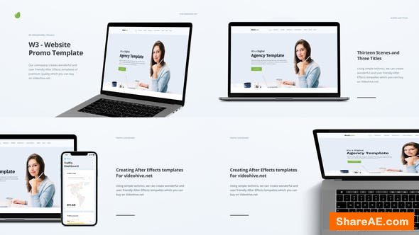 Videohive W3 - Website Promo