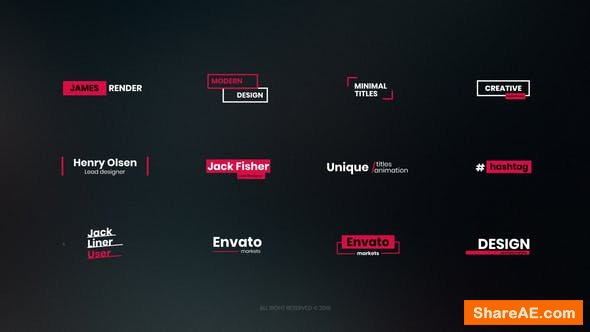 Videohive 20 Simple Titles 22793851