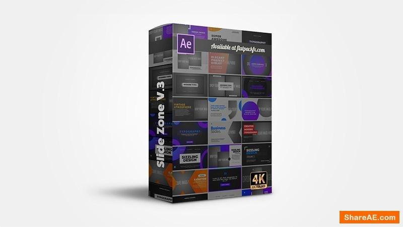 Flatpackfx Slides Zone V3 - After Effects
