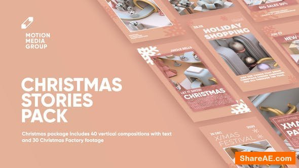 Videohive Christmas Factory Stories