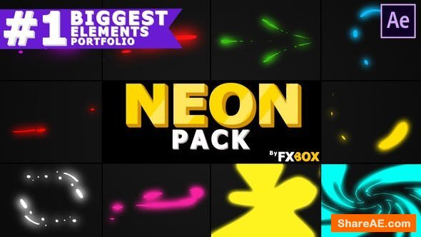 Videohive Neon Shape Elements | After Effects