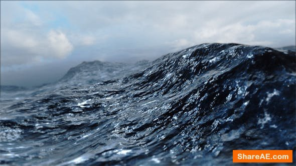 Videohive Rough Sea Loop 3D - Motion Graphic