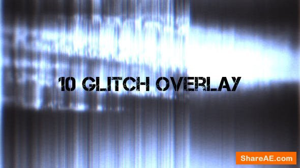 Videohive Glitch Overlay - Motion Graphic