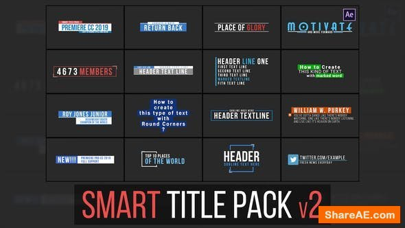 Videohive Smart Title Pack v2