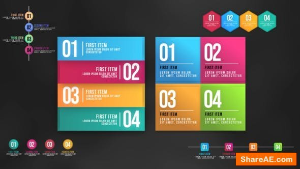 Videohive Infographic Animated Lists