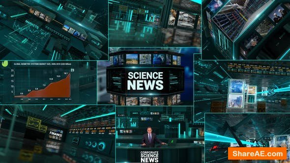 Videohive Corporate Economics Science News Broadcast Full Package
