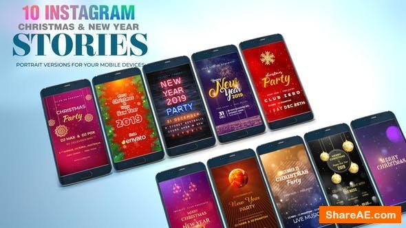 Videohive Christmas and New Year I Instagram Stories