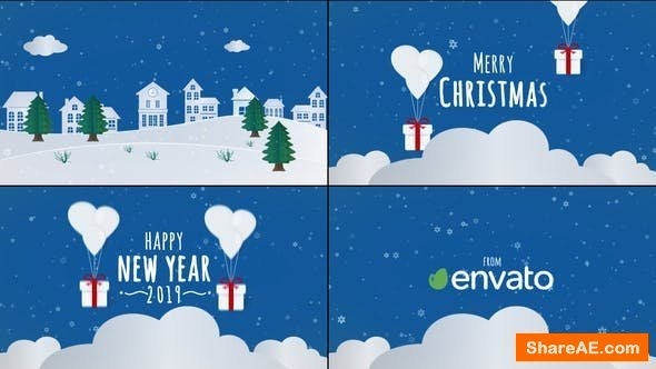 Videohive Christmas Card 23047535