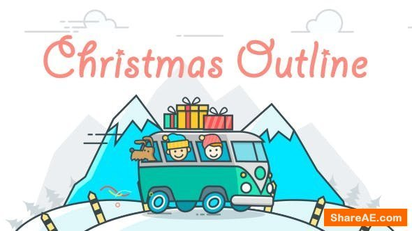 Videohive Christmas Outline