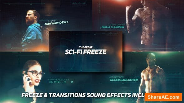 Videohive Sci-fi Freeze Movie Opener
