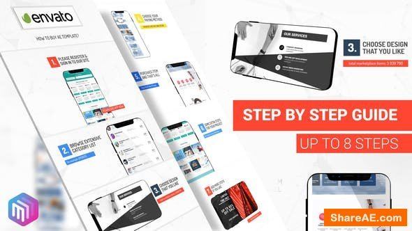 Videohive How To Use - Step by Step Guide. Smartphone Version
