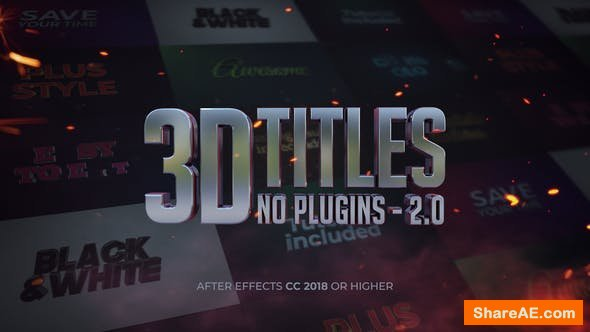 Videohive 3D Titles - No Plugins 2.0
