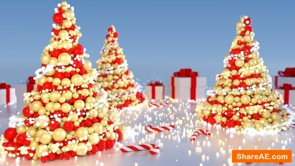 Videohive Abstract Christmas Tree (5 versions)