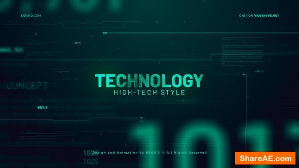 Videohive High Technology Promo Slideshow
