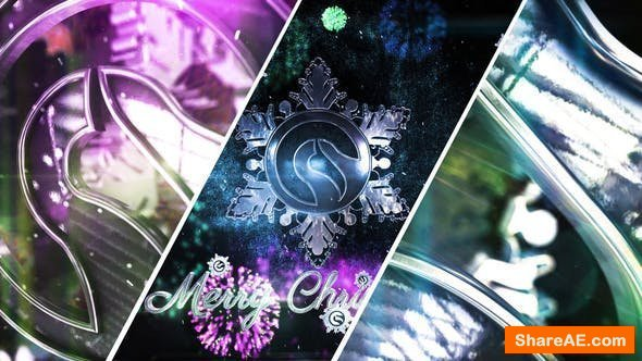 Videohive Snowflake Christmas Logo