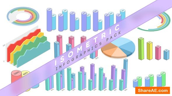 Videohive Isometric Infographics Pack