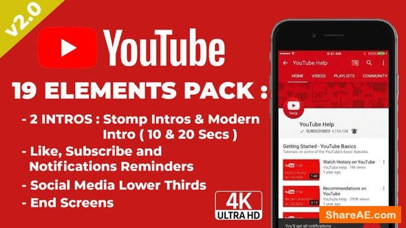 Videohive Youtuber Subscribe & End Screens v2.0