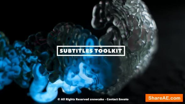 Videohive Subtitles Toolkit