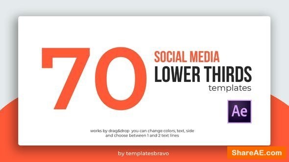 Videohive Social Media Lower Thirds 24493898