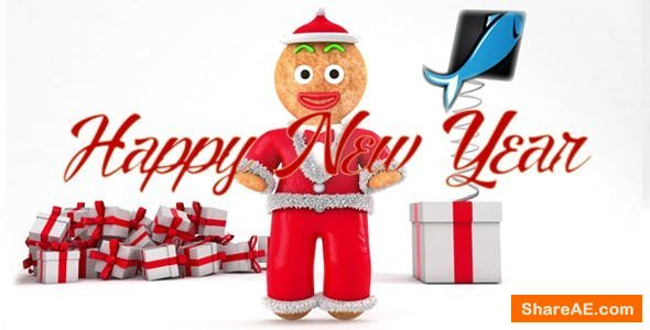 Videohive Happy New Year with Gingerbread