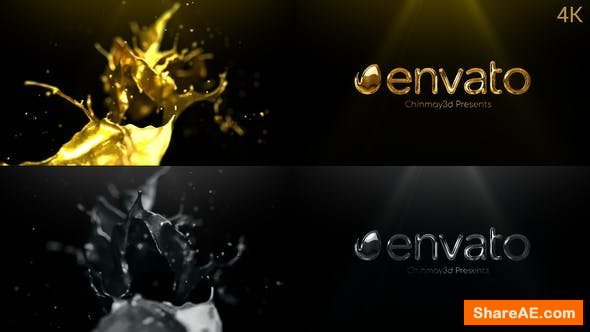 Videohive Golden & Silver Liquid Logo Reveal