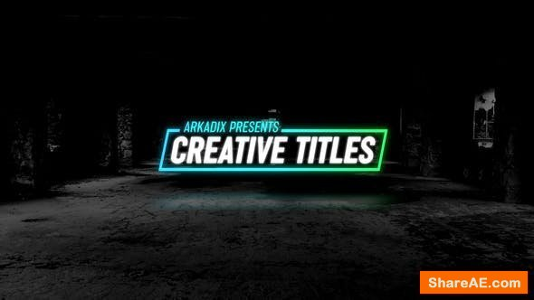 Videohive Creative Titles 4k