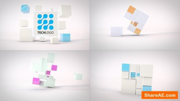 Videohive Clean Dynamic Cubes Logo Reveals