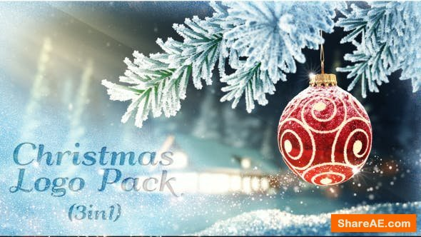 Videohive Christmas Logo Pack 3 in 1