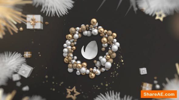 Videohive Gold Christmas Logo 21098299