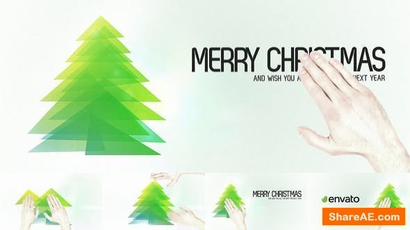 Videohive Touch Christmas Video Greeting Card