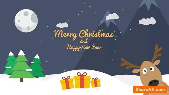 Videohive Cartoon Christmas Postcard 02