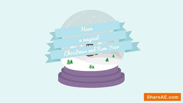 Videohive Cartoon Christmas Postcard 03