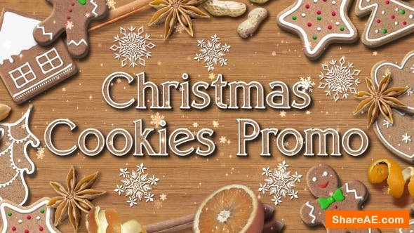 Videohive Christmas Cookies Promo