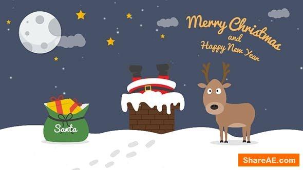 Videohive Cartoon Christmas Postcard 04