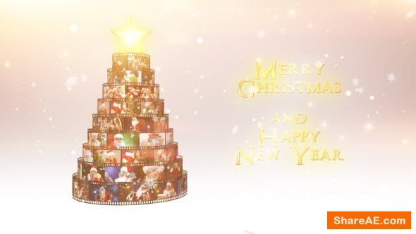 Videohive Merry Christmas Film Reel Wishes