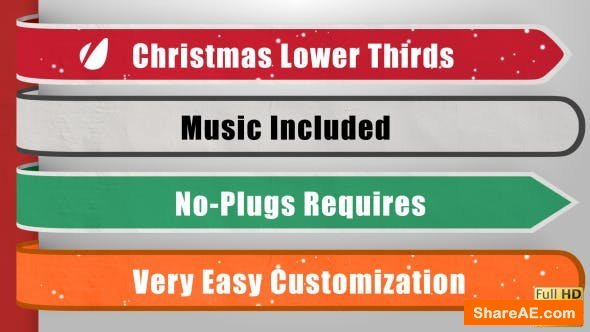 Videohive Christmas Lower Thirds