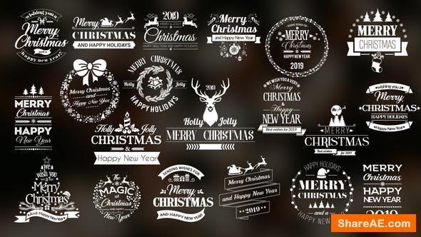 Videohive Twenty Christmas Badges