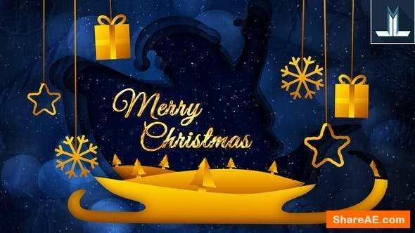 Videohive Merry Christmas Greeting Card 25216913