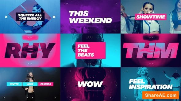 Videohive Dynamic Opener / Music Event Promo / Party Invitation / EDM Festival / Night Club / Fast Typography