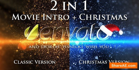 Videohive Movie Intro + Christmas Intro Project - 2 in 1