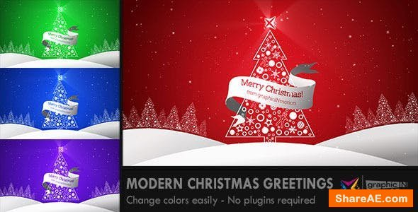 Videohive Modern Christmas Greetings