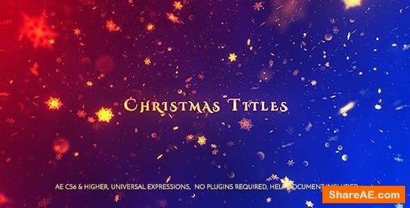 Videohive Christmas Titles 21005037
