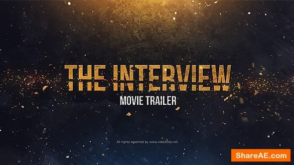 Videohive The Interview. Movie Trailer