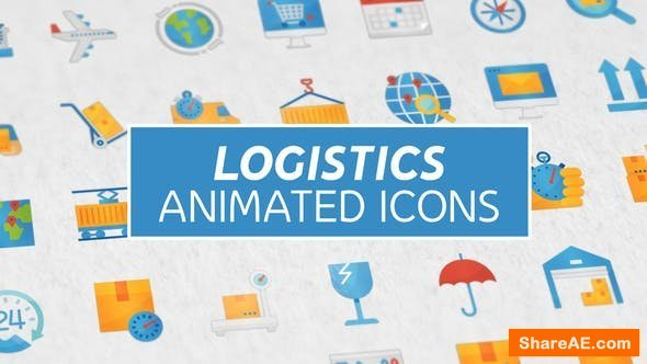 Videohive Logistics & Transportation Modern Flat Animated Icons