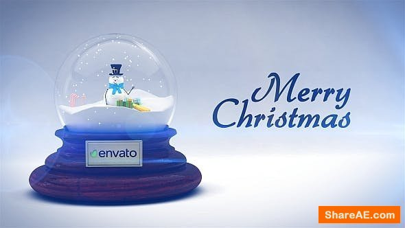 Videohive Merry Christmas Snow Globe