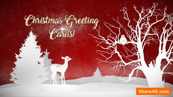 Videohive Christmas Greeting Cards
