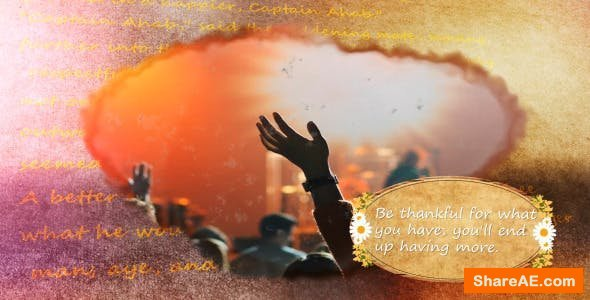 Videohive 3D ThanksGiving Slideshow