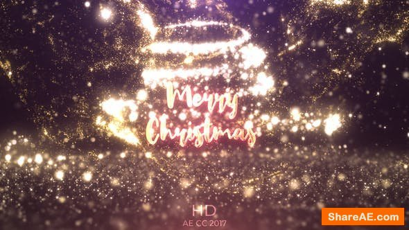 Videohive Gold Christmas Logo